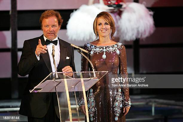 Guillaume Durand and Natacha Amal during 2005 Monaco Red Cross Ball Dinner Lottery at Monte Carlo Sporting Club in Monte Carlo Monaco
