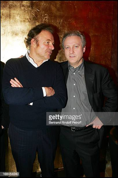 Guillaume Durand and Yves Bigot at 100th Episode Of Campus Of Guillaume Durant At Le Cafe De L'Homme Restaurant At The Trocadero