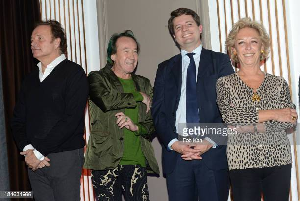 Guillaume Durand Patrick Blanc Alexandre DuvalStalla and Anne de La Baume attend the 'Pershing Hall Prize' Prize Of The Cultural Personality Of The...