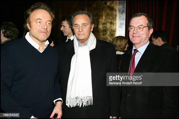 Guillaume Durand Roger Hanin and Marc Tessier at 100th Episode Of 'Campus' Of Guillaume Durant At Le Cafe De L'Homme Restaurant At The Trocadero