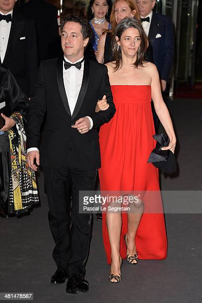 Guillaume Gallienne and Amandine Gallienne attend the Rose Ball 2014 in aid of the Princess Grace Foundation at Sporting MonteCarlo on March 29 2014...