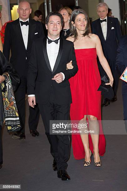 Guillaume Gallienne and Amandine Gallienne attend the Rose Ball at Sporting MonteCarlo on March 29 2014 in MonteCarlo Monaco