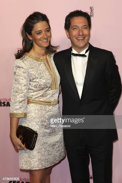 Guillaume Gallienne and his wife Amandine arrive for the 39th Cesar Film Awards 2014 at Theatre du Chatelet on February 28 2014 in Paris France