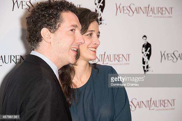 Guillaume Gallienne and his wife Amandine attend the 'Yves Saint Laurent' Paris Premiere at Cinema UGC Normandie on December 19, 2013 in Paris,...