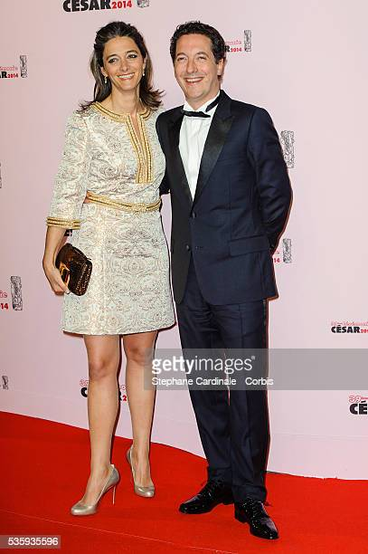 Guillaume Gallienne and his wife Amandine Gallienne attend the 39th Cesar Film Awards 2014 at Theatre du Chatelet in Paris