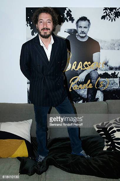 Guillaume Gallienne attends the Brassens Behind the Scenes and Press Junket on October 17 2016 in Paris France