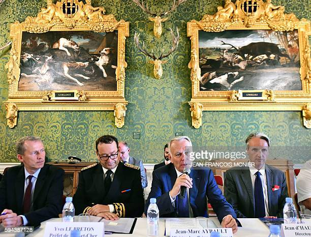 Guillaume Garot deputy chairman of the Domaine National de Chambord Yves Lebreton prefect of the French LoireetCher department French Foreign Affairs...