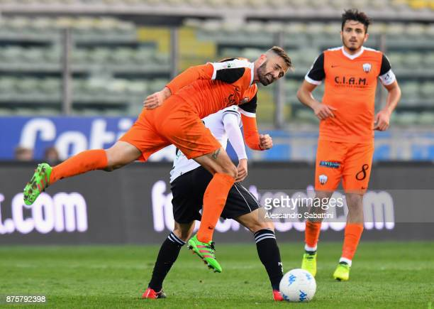 Guillaume Gigliotti of Ascoli Picchio in action during the Serie B match between Parma Calcio and Ascoli Picchio at Stadio Ennio Tardini on November...