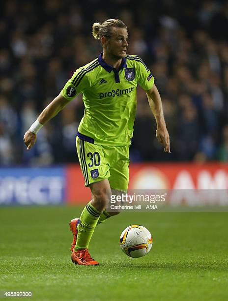 Guillaume Gillet of Anderlecht during the UEFA Europa League match between Tottenham Hotspur and RSC Anderlecht on November 5, 2015 in London, United...