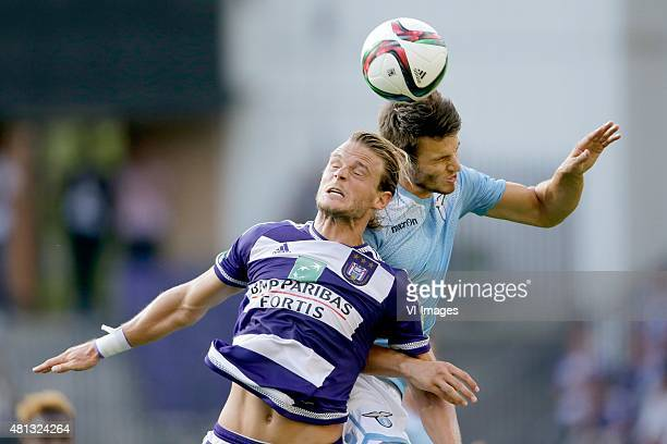 Guillaume Gillet of Anderlecht, Wesley Hoedt of SS Lazio Roma during the pre-season friendly match between RSC Anderlecht and SS Lazio Roma on July...