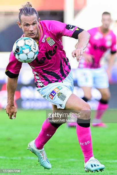 Guillaume Gillet of Charleroi pictured in action during the Jupiler Pro League match between SV Zulte Waregem and Sporting de Charleroi at...
