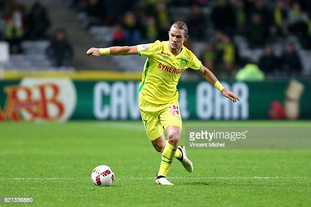 Guillaume Gillet of Nantes during the Ligue 1 match between Fc Nantes and Toulouse Fc at Stade de la Beaujoire on November 5, 2016 in Nantes, France.