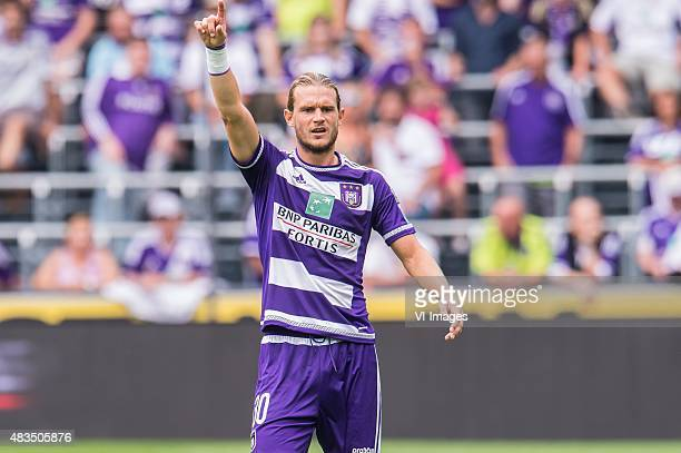 Guillaume Gillet of RSC Anderlecht during the Jupiler Pro League match between RSC Anderlecht and KAA Gent on August 9th, 2015 at the Constant Vanden...