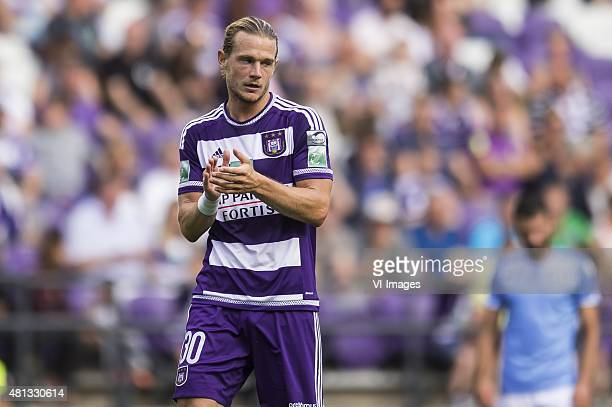 Guillaume Gillet of RSC Anderlecht during the pre-season friendly match between RSC Anderlecht and SS Lazio Roma on July 19, 2015 at the Constant...