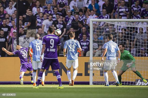 Guillaume Gillet of RSC Anderlecht scores during the preseason friendly match between RSC Anderlecht and SS Lazio Roma on July 19 2015 at the...