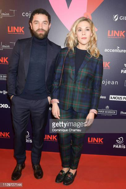 Guillaume Gouix and Alysson Paradis attend 'Par Amour' Charity Gala at Mairie de Paris on February 14 2019 in Paris France