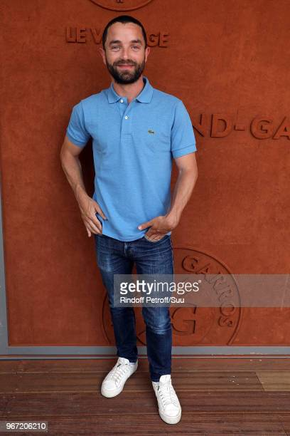 Guillaume Gouix attends the 2018 French Open Day Nine at Roland Garros on June 4 2018 in Paris France