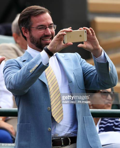 Guillaume Hereditary Grand Duke of Luxembourg on day Nine of the Wimbledon Championships at The All England Lawn Tennis and Croquet Club Wimbledon