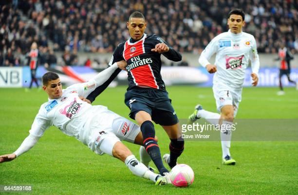 Guillaume HOARAU / Carl MEDJANI Paris Saint Germain / Ajaccio 26e journee Ligue 1 Photo Dave Winter / Icon Sport