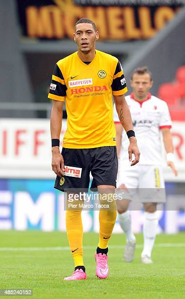 Guillaume Hoarau of BSC Young Boys in action during the Raiffeisen Super League match between FC Sion and BSC Young Boys on August 23 2015 in Sion...