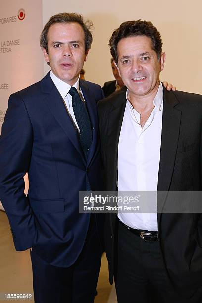 Guillaume Houze and CEO Museum of Palais de Tokyo Jean de Loisy attend the the dinner of the friends of the 'Musee d'Art Moderne de la ville de...
