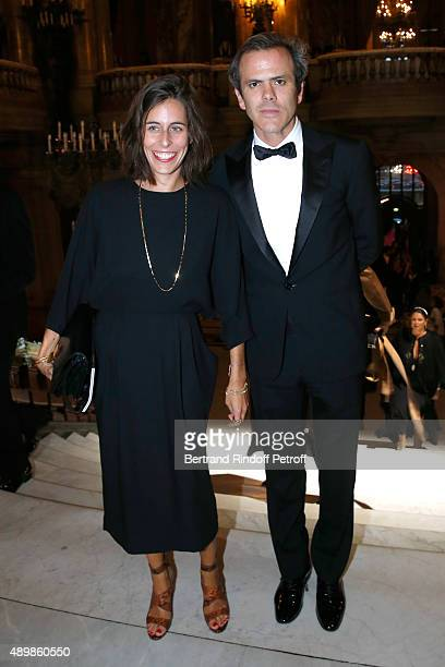 Guillaume Houze and his wife attend the Ballet National de Paris Opening Season Gala at Opera Garnier on September 24 2015 in Paris France