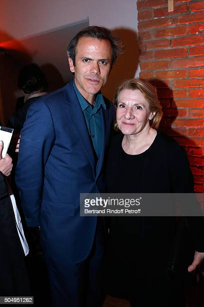 Guillaume Houze and President of the Versailles Castle Catherine Pegard attend the 'Jean Nouvel and Claude Parent Musees a venir' Exhibition Opening...