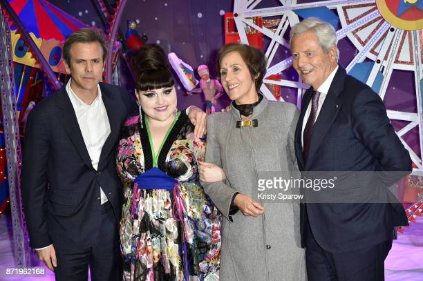 Guillaume Houze Beth Ditto Agnes Vigneron and Philippe Houze attend the Christmas Decorations Inauguration at Galeries Lafayette Haussmann on...
