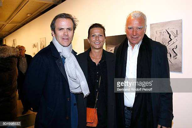 Guillaume Houze Patrick Seguin and his wife Laurence Seguin attend the 'Jean Nouvel and Claude Parent Musees a venir' Exhibition Opening at Galerie...
