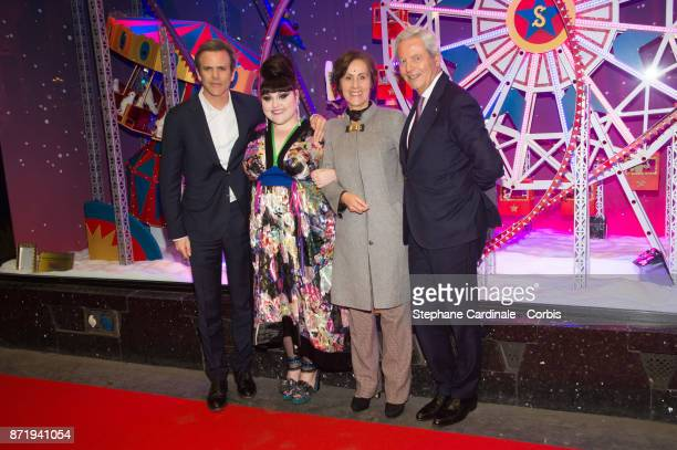 Guillaume Houze Singer Beth Ditto Agnes Vigneron and Philippe Houze attend the 'Galeries Lafayette' Christmas Decorations Inauguration at Galeries...