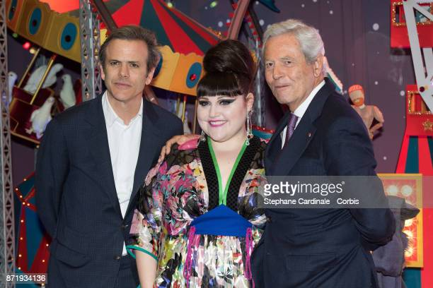 Guillaume Houze Singer Beth Ditto and Philippe Houze attend the 'Galeries Lafayette' Christmas Decorations Inauguration at Galeries Lafayette...