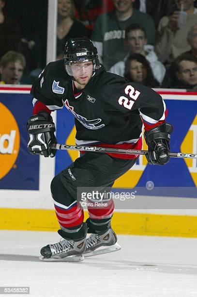 Guillaume Latendresse of Team Cherry skates against Team Davidson during the Top Prospects game at the Pacific Coloseum on January 19, 2005 in...