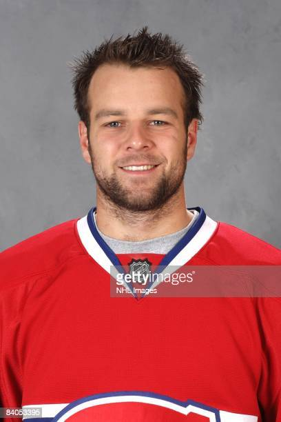 Guillaume Latendresse of the Montreal Canadiens poses for his official headshot for the 20082009 NHL season