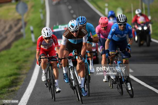 Guillaume Martin of France and Team Cofidis Solutions Credits / Nans Peters of France and Team AG2R La Mondiale / Alejandro Valverde Belmonte of...