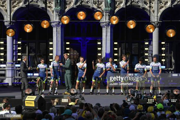 Guillaume Martin of France and Team Wanty-Gobert / Frederik Backaert of Belgium and Team Wanty-Gobert / Aime De Gendt of Belgium and Team...