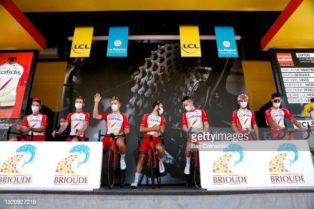 Guillaume Martin of France, Simon Geschke of Germany, Nathan Haas of Australia, Emmanuel Morin of France, Anthony Perez of France, Pierre-Luc...