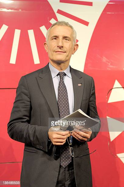 Guillaume Pepy attends the TGV 30th Anniversary ceremony at Gare Montparnasse on April 7 2011 in Paris France