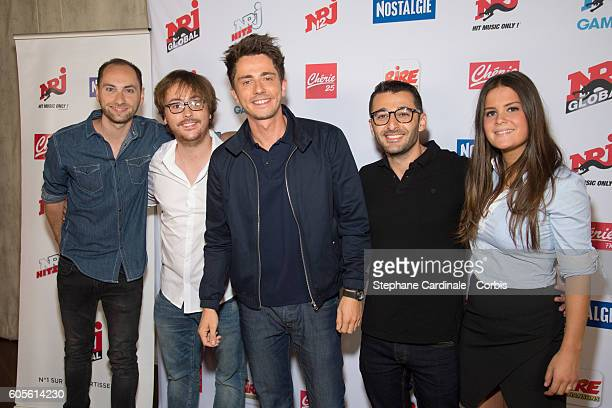 Guillaume Pley and his team pose at the Photocall of NRJ Group at Musee du Quai Branly on September 14 2016 in Paris France