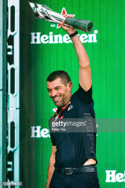 Guillaume Rocquelin of Red Bull Racing and France during the Formula One Grand Prix of Mexico at Autodromo Hermanos Rodriguez on October 28, 2018 in...
