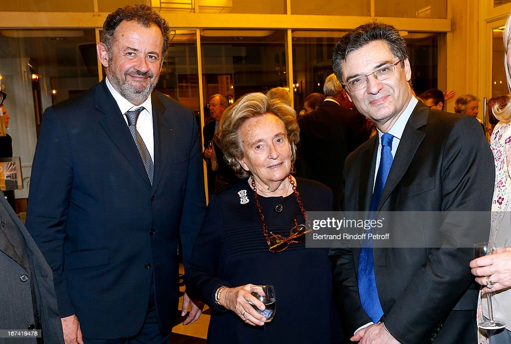 Guillaume Sarkozy, Bernadette Chirac and Patrck Devedjian attend Salle Gaveau 105th Anniversary on April 24, 2013 in Paris, France.