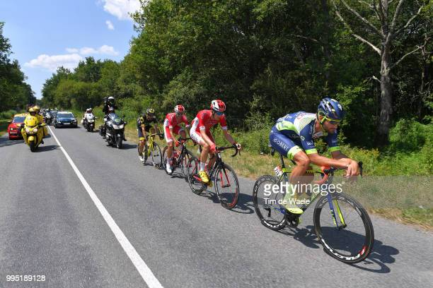 Guillaume Van Keirsbulck of Belgium and Team Wanty Groupe Gobert /Dimitri Claeys of Belgium and Team Cofidis / Jerome Cousin of France and Team...