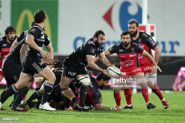 Guillaumes Ribes of Brive during the French Top 14 match between Brive and Toulon on March 4 2017 in Brive France