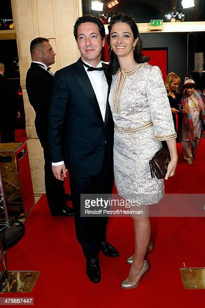 Guillaumre Gallienne and his wife Amandine Gallienne arrive for the 39th Cesar Film Awards 2014 at Theatre du Chatelet on February 28 2014 in Paris...