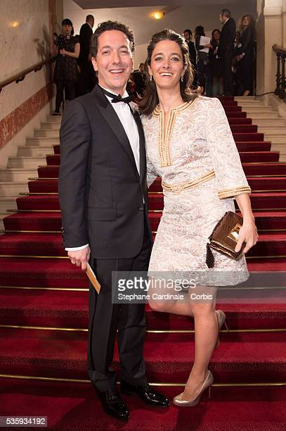 Guillaumre Gallienne and his wife Amandine Gallienne attend the 39th Cesar Film Awards 2014 at Theatre du Chatelet in Paris