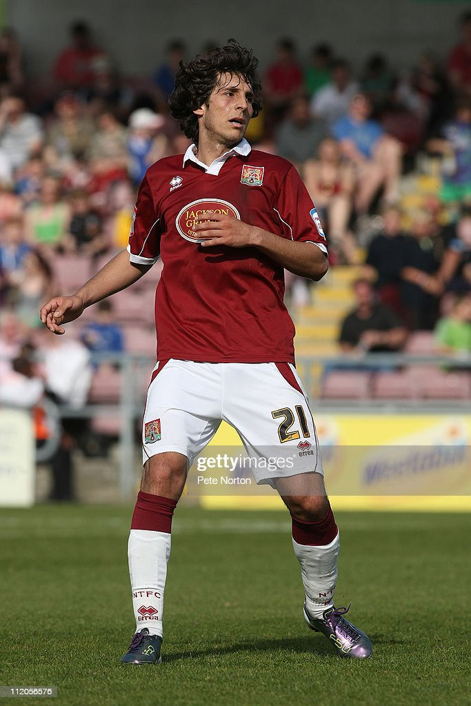 Guillem Bauza of Northampton Town in action during the npower League Two League match between Northampton Town and Bury at Sixfields Stadium on April 9, 2011 in Northampton, England.