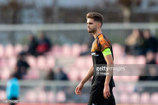 Guillem Molina of FC Valencia U19 looks on during the UEFA Youth League match between Ajax Amsterdam U19 and FC Valencia U19 on December 10 2019 in...