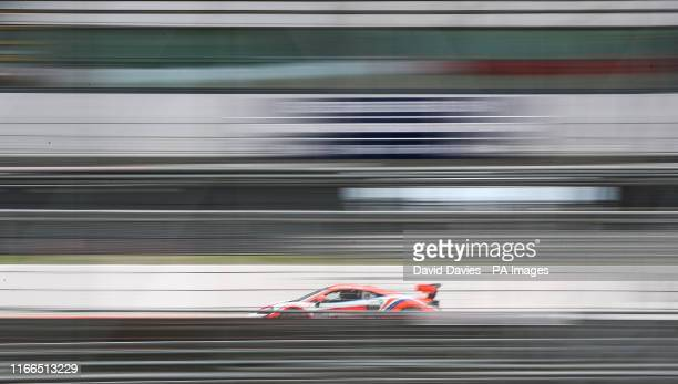 Guillem Pujeu in the McLaren 570S during Race 1 of the GT Cup Open Europe at Silverstone Towcester