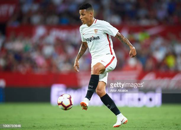 Guillerme Arana of Sevilla FC in action during Sevilla v Ujpest UEFA Europa League Second Qualifying Round 1st leg match at Estadio Ramon Sanchez...
