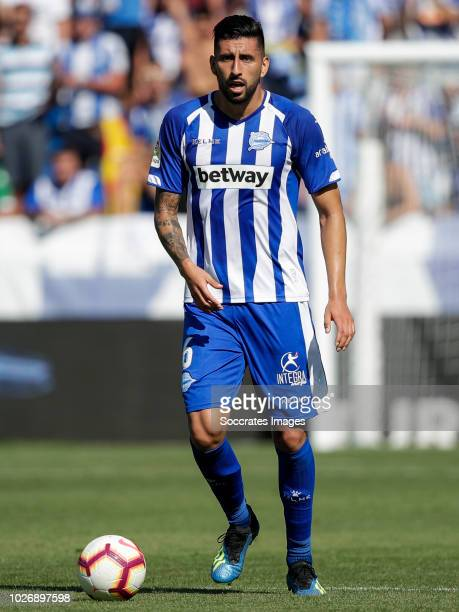Guillermo Alfonso Maripan of Deportivo Alaves CF during the La Liga Santander match between Deportivo Alaves v Espanyol at the Estadio de...
