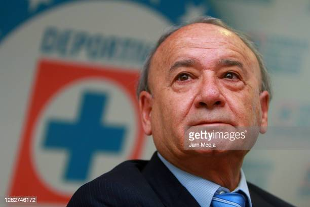 Guillermo Alvarez president of Cruz Azul attends a press conference on December 12 2011 in Mexico City Mexico A federal judge issued an arrest...